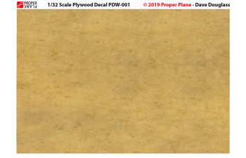 Proper Plywood Decal (Set of 4 Sheets 105x148 mm) PDW-001234