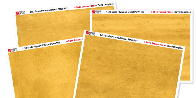 Proper Plywood Decal (Set of 4 Sheets 105x148 mm)
