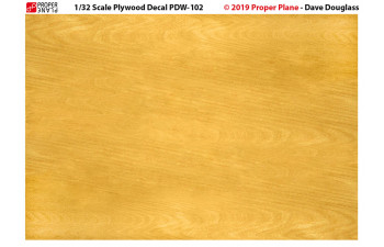 Proper Plywood Decal (Set of 4 Sheets 105x148 mm) PDW-101234