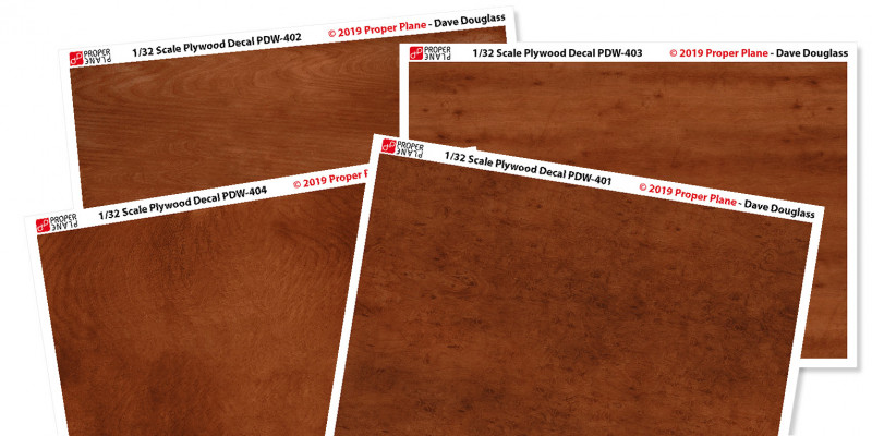 Proper Plywood Decal (Set of 4 Sheets 105x148 mm) PDW-401234