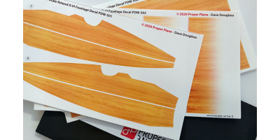 Roland D.VI Fuselage Decal (Set of 3 Sheets 105x190 mm) PDW-501230